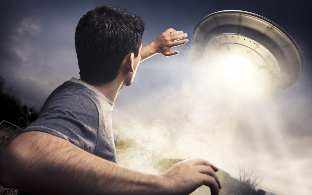 The UFO flew right over me!