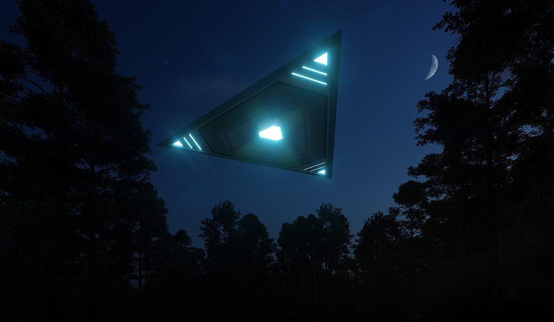 Giant V-Shaped UFO in Victoria