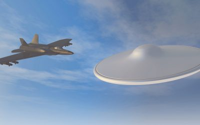 UFO chased by fighter jets